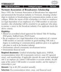 vab new scholarship