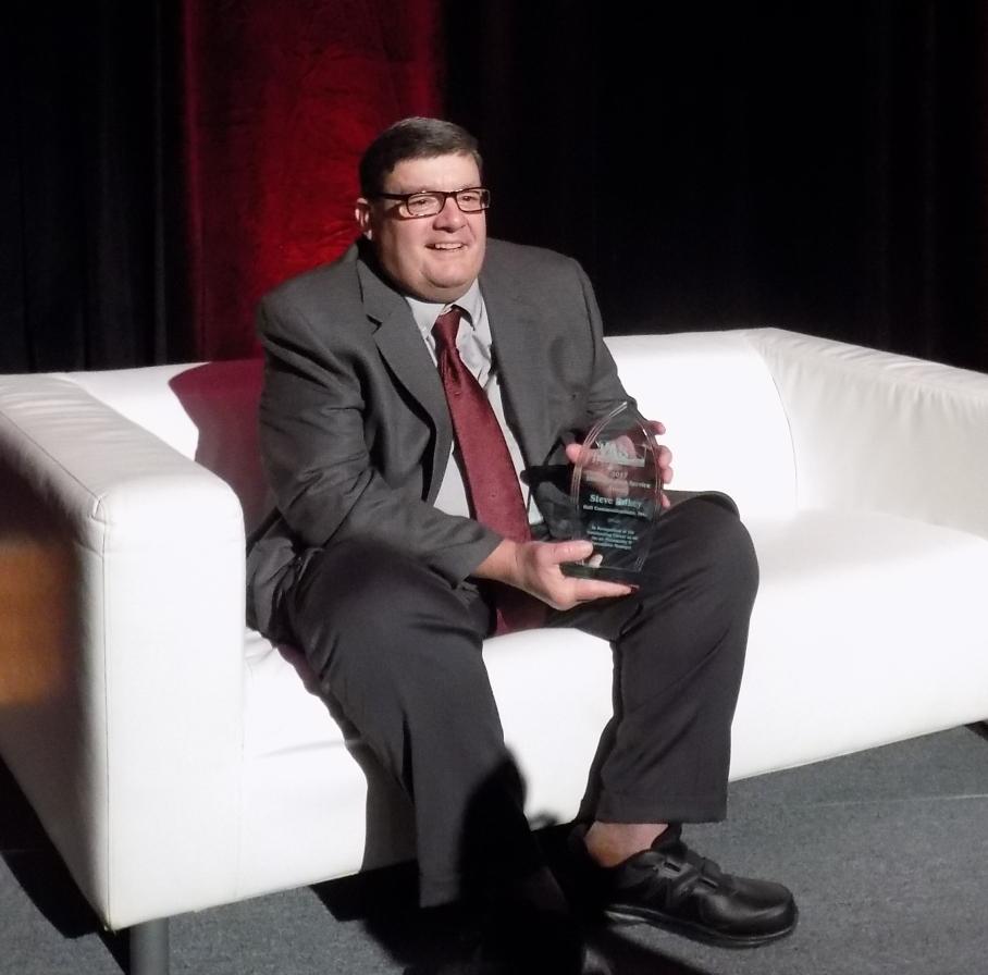 steve with award