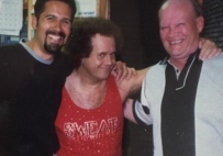 Richard Simmons with Charlie and Ernie